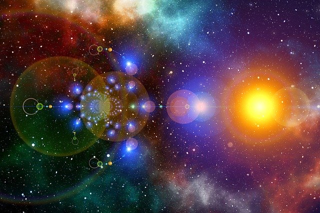 宇宙レンズフレア